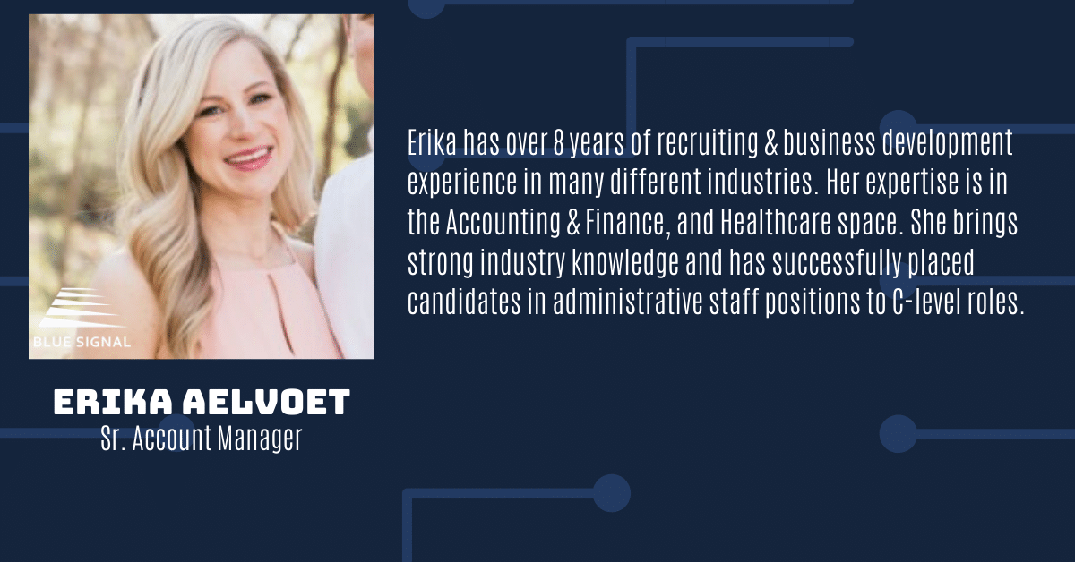 Erika Aelvoet Sr Account Manager